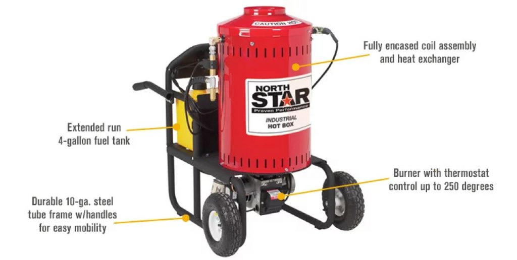 Northstar Electric Wet Steam Cleaner and Hot Water Commercial Pressure Power Washer Add-on Unit - 4000 PSI